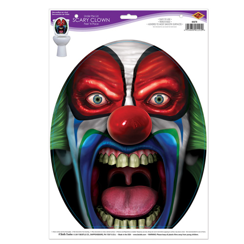 Under The Lid Scary Clown Peel n' Place image