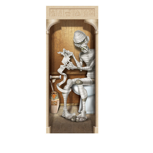 Mummy Restroom Door Cover image
