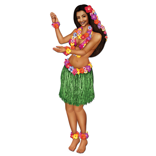 Cutout Hula Girl Cutout Jointed  image