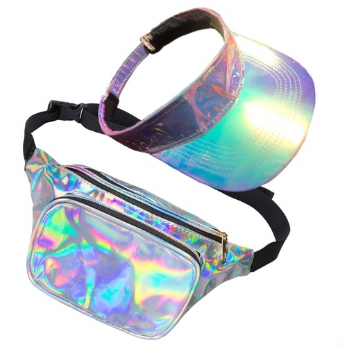 80's Galaxy Bum Bag & Visor Set image