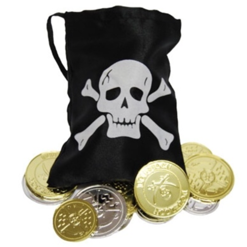 Pirate Coins & Treasure Pouch (12 Coins) image
