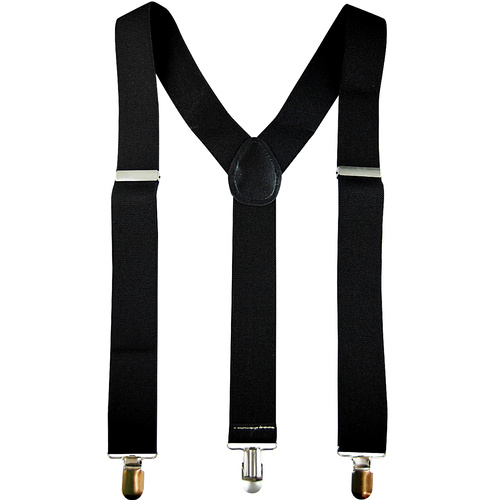 Stretch Braces/Suspenders - Black image