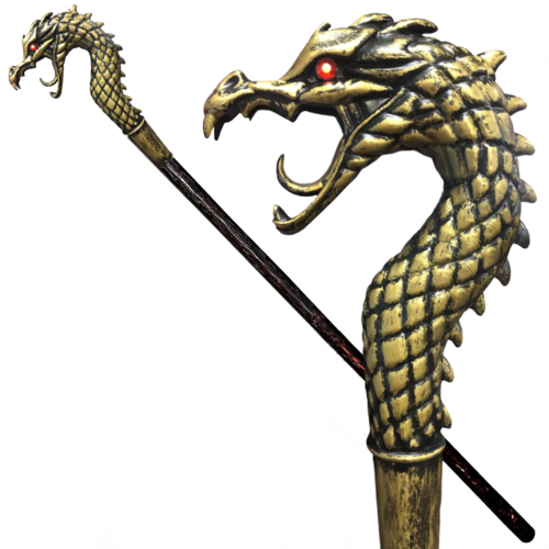"Gold Dragon Staff GOT Style - 45"" image"
