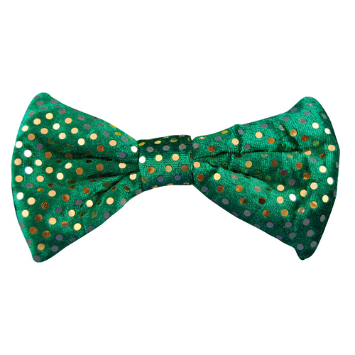 St Patricks Day Bow Tie - Green w/Spots image