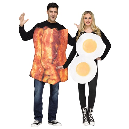 Bacon & Eggs - Adult Couple Costume One Size Fits Most image