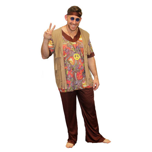 Woodstock Hippie Man- Adult - Large image