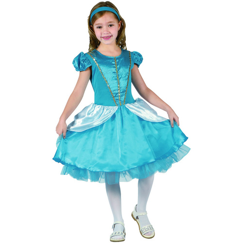 **Blue Fairytale Princess - Child -Lrg** image