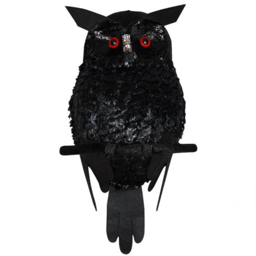 Plush Black Owl w/Light Up Eyes image