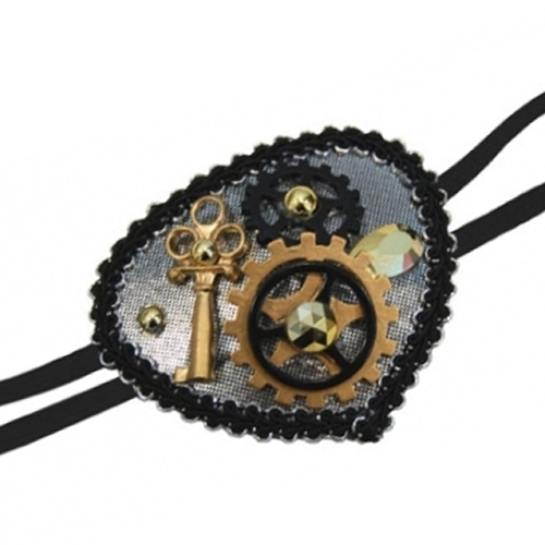 Deluxe Steampunk Eyepatch - Silver image