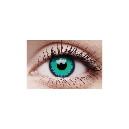 Crazy Lens Contacts - Green Werewolf image