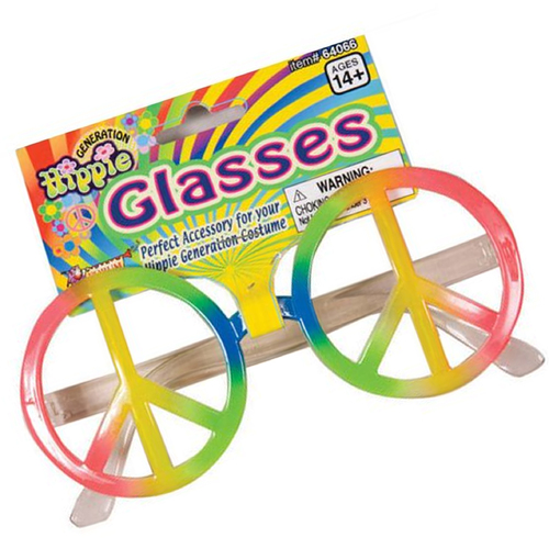 Rainbow Peace Sign Glasses image