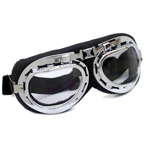 Steampunk Aviator Goggles - Black