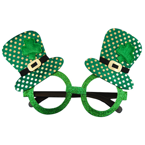 St Patricks Day Glasses - Top Hats image