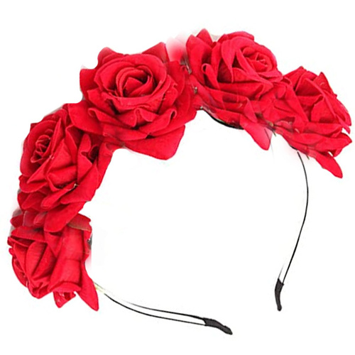 Deluxe Rose Headband - Day Of The Dead image
