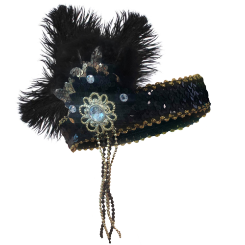 Flapper Headpiece - Deluxe Black/Gold image
