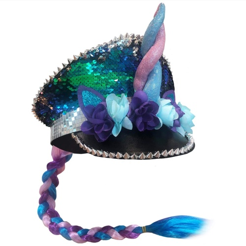 Unicorn Sequin Festival Hat w/ plait image