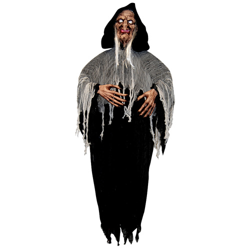 Hanging Old Witch w/White Shining Eyes image