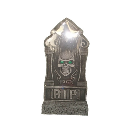 Jumbo Skull Tombstone w/Light Up Eyes image