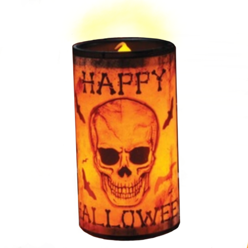 Creepy LED Candle - Bats & Skull image