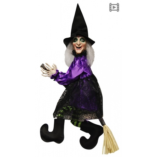 Animated Flying/Talking Witch on Broom image