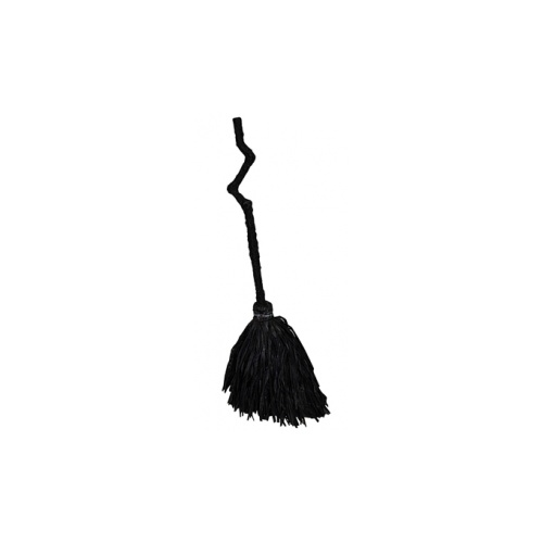 Standing Crooked Witch Broom - Black