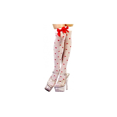 Thigh High Tights - Cupid Hearts image