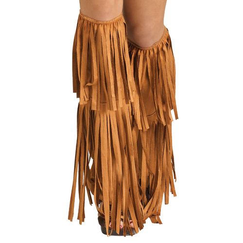 Hippie Suede Fringe Boot Covers - Adult image