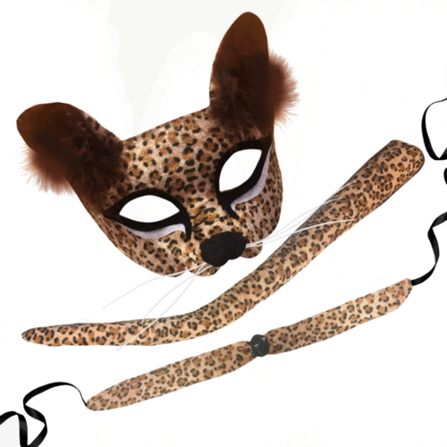 Deluxe Adult Animal Mask - Leopard image