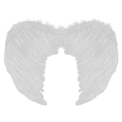 Small Feather Angel Wings - White image