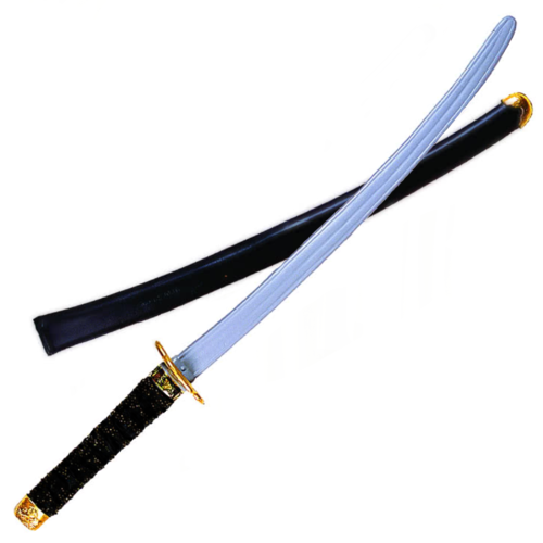Black Handle Ninja Sword Slv Blade-31in image