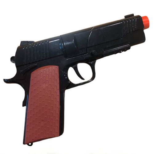 Diecast Automatic Pistol Realistic Blk image